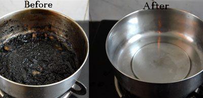 Dit is hoe je aangebrande pannen en bakplaten schoonmaakt!