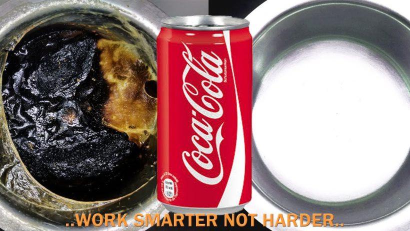 Pan reinigen met cola